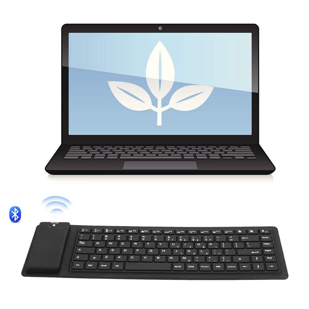 Новинка; Лидер продаж 88 клавиш Silent силиконовая гибкая складная клавиатура <font><b>Bluetooth</b></font> тонкая клавиатура для планшетных ПК телефон 8
