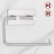 304 Stainless Steel WC Paper Holders Bathroom Toilet Hanger Adhesive Suckers Tissue Kitchen Paper Towel Roll Holder Free Nail(China)