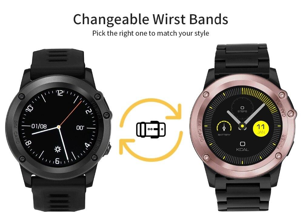 H1 3g смарт браслет телефон Android 4,4 1,39 дюймов MTK6572 4 ГБ Встроенная память Смарт часы IP68 Водонепроницаемый 5.0MP Камера шагомер браслет - 4