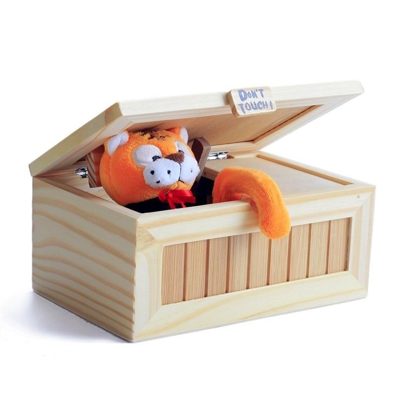 Divertido Tricky moda Cartoon Tiger caja inútil adulto creativo regalos y juguetes prácticos Funny caja Juguetes para amigos y niños