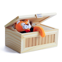 Fun Tricky Fashion Cartoon Tiger Useless Box Creative Adult Gifts Gags And Practical Jokes Funny Box Toys For Friends and Kids