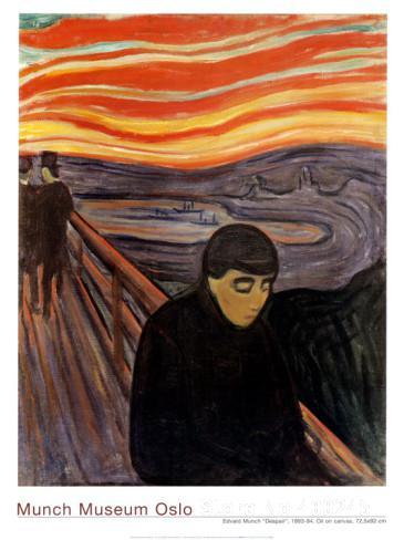 The Scream by Edvard Munch Art Print Museum Poster 24x32