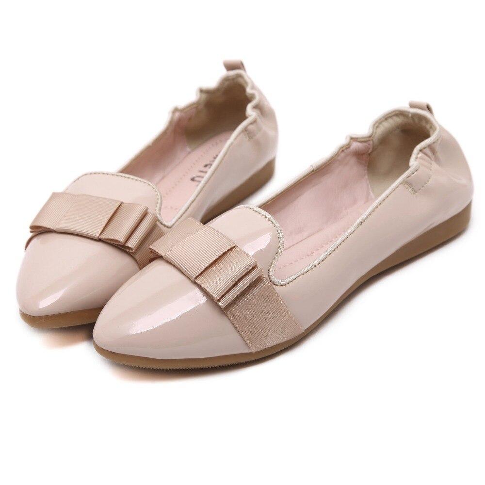 Más Bowtie Nuevo Conducción Zapatos Mujeres Casual Pu Punta Mocasines Estrecha 2016 Pisos pwRdxgEwq