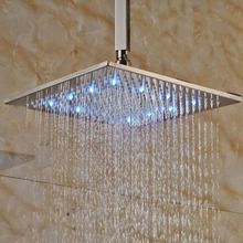 LED Square Ceiling Mounted 8 Rain Shower Head Top Over Head Sprayer