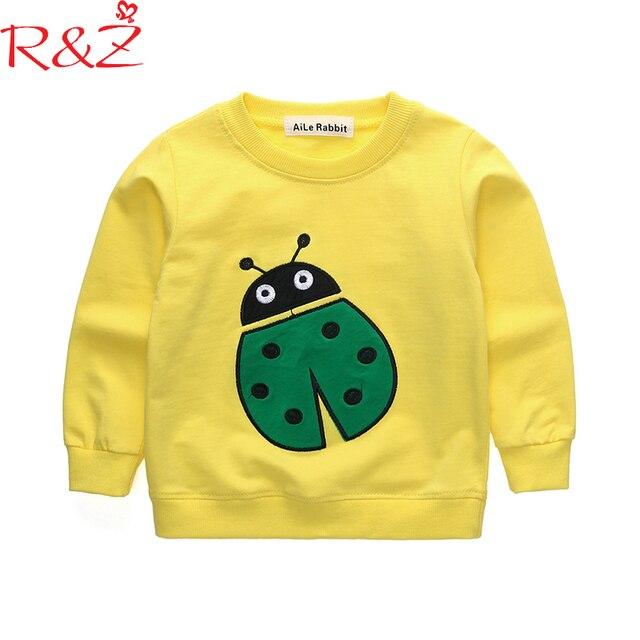 38eb03b39 R Z Baby Boys and Girls Clothes 2018 New Korean Cotton T shirts Long ...