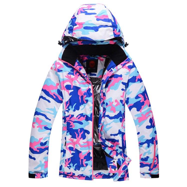 Veste de Ski pas cher femmes Ski Snowboard vêtements de Ski coupe-vent imperméable-30 vestes de Ski en plein air hiver neige custome - 2