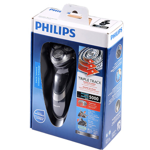 Image 5 - Philips AquaTouch umido e secco rasoio elettrico rotativo con TripleTrack teste, smartPivot teste trimmer AT921/28 per gli uomini Nero