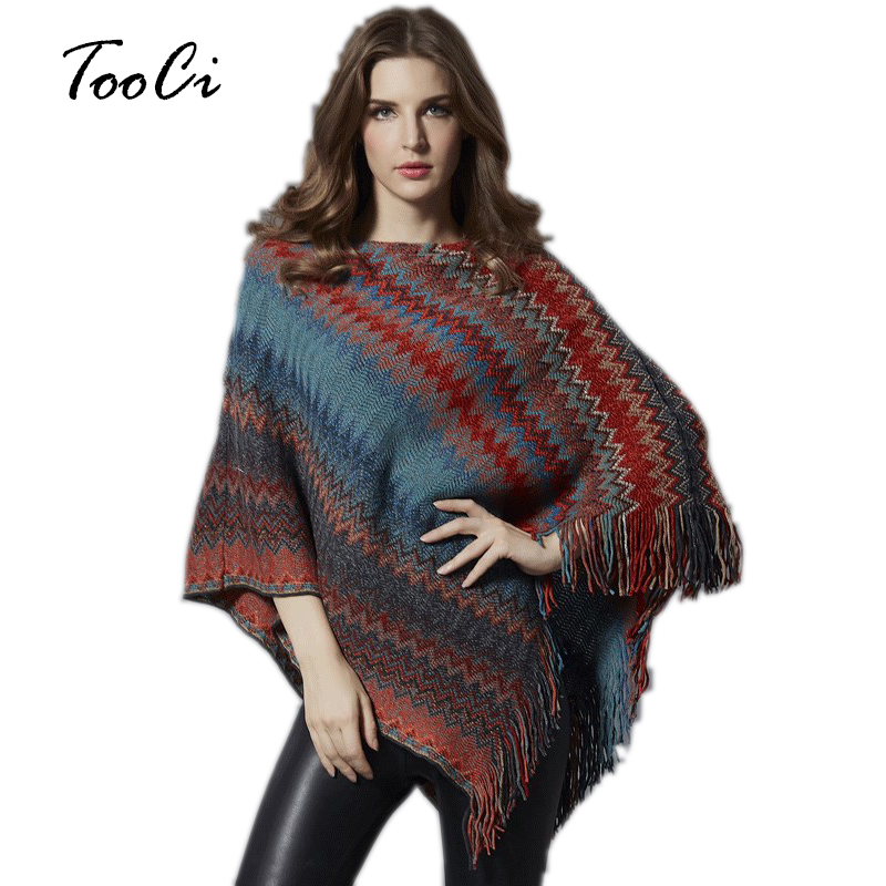 New Autumn Women Sweater Pullover Tassel Red Poncho And Caps Feminino Casual Pull Femme Pullover Casual Sweater Mujer
