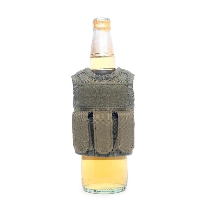 Askeri Mini Minyatür Molle Yelek Kişisel Şişe Içecek Seti Ayarlanabilir Omuz Askısı Içecek Taktik Bira şişe kapağı