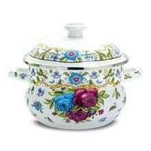 Freies verschiffen kasserolle emaille dicke suppe topf rose sauceboxes induktionsherd allgemeinen kochgeschirr küche utensil