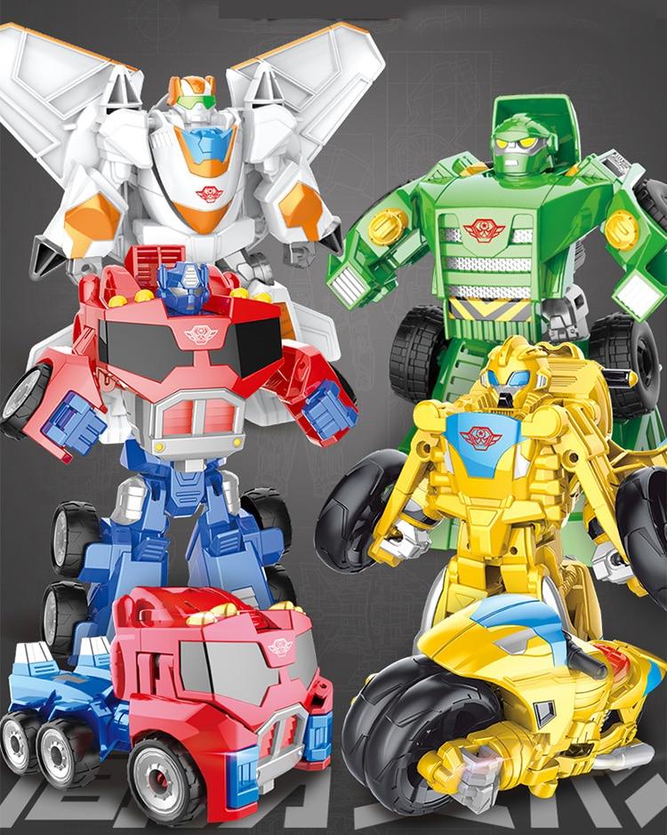 Robot Toys Transformation Classic Plastic Kid Children Figures Education Boys Boys