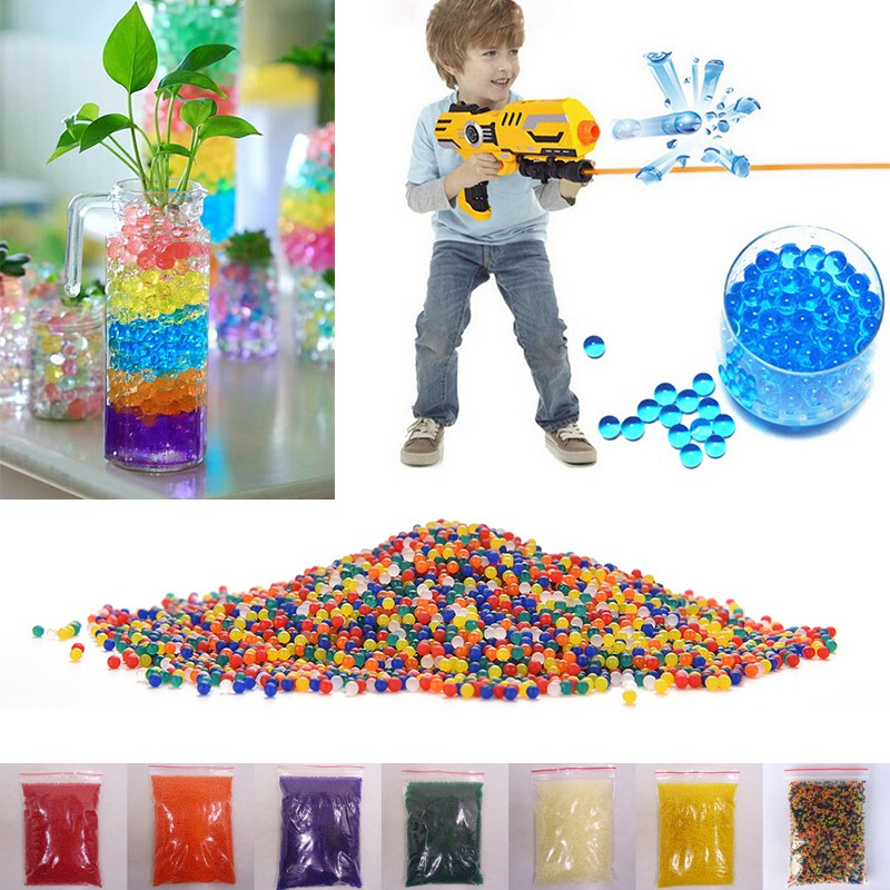 5000 or 10000pcs/pack 9-13mm colored orbeez soft crystal water paintball gun bullet grow water beads grow balls water gun toys