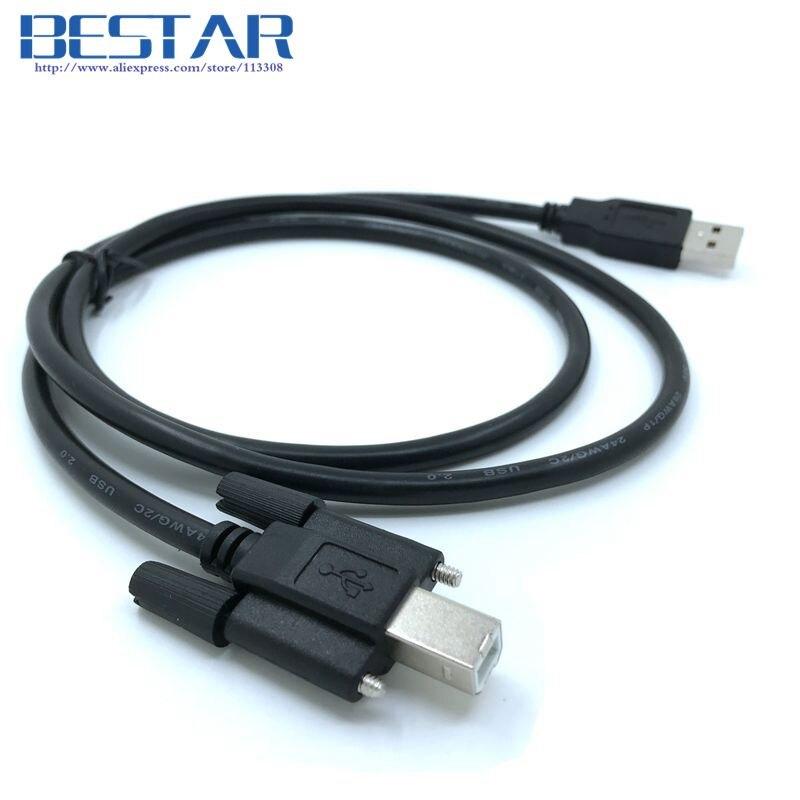 BM USB 2.0 A ir USB 2.0 B vyriškas B tipo data kabelis 1m 1.5m 3m 5m su varžtu skydo tvirtinimo angoms jungtis 1 1,5 3 5 m