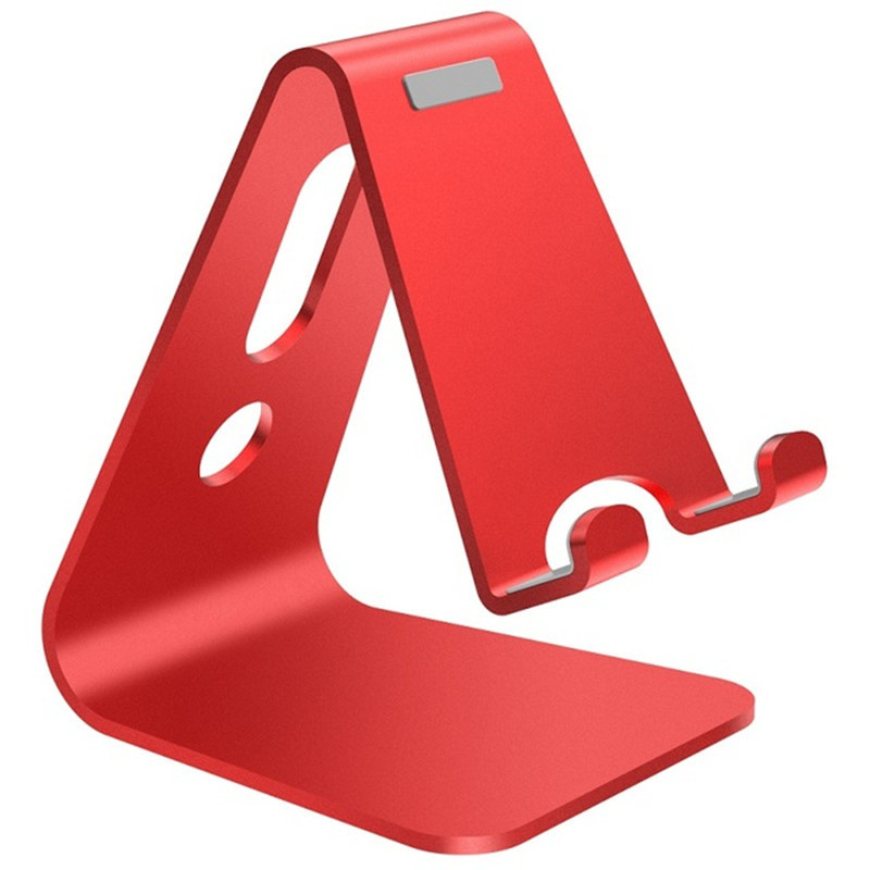 Image 2 - Vogek Mobile Phone Holder Stand Aluminium Alloy Metal Tablet Stand Universal Holder for iPhone X/8/7/6/5 Plus Samsung Phone/ipad-in Phone Holders & Stands from Cellphones & Telecommunications