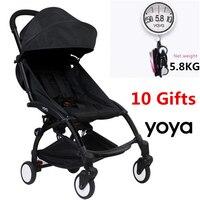 10 Accessory Light Aluminium baby Travel yoya Stroller Trolley Wagon Bebek Arabasi Portable Folding yoya stroller Carriage