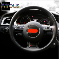 Atreus Steering Wheel Carbon Fiber Stickers Car Sticker For Audi A6 C5 C6 A3 A4 B6 B8 B7 B5 Q5 Q7 Q3 A5 A1 TT Accessories