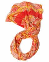 Zijde kasjmier blend vrouwen elegante gedrukt dunne sjaals sjaal pashmina 65x180 cm orange rode serie