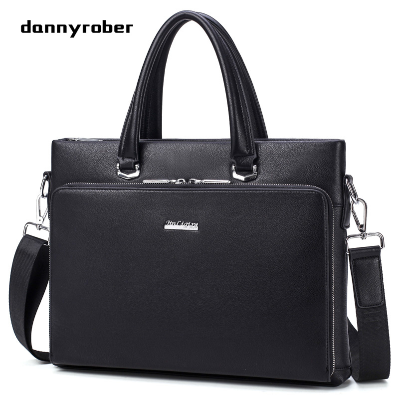 Top Handbag Fashion Simple Famous Brand Business Men Briefcase Bags Leather Laptop Bag Casual Man Shoulder Bags 1A sensas rotaugen