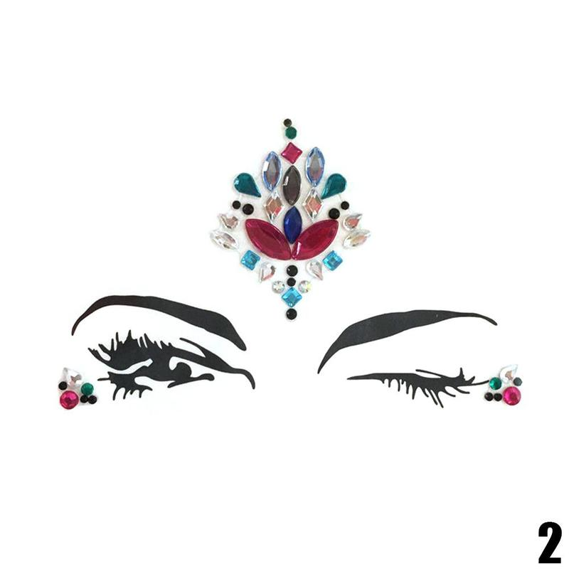 Adhesive Face jewels Gems Temporary Tattoo 4