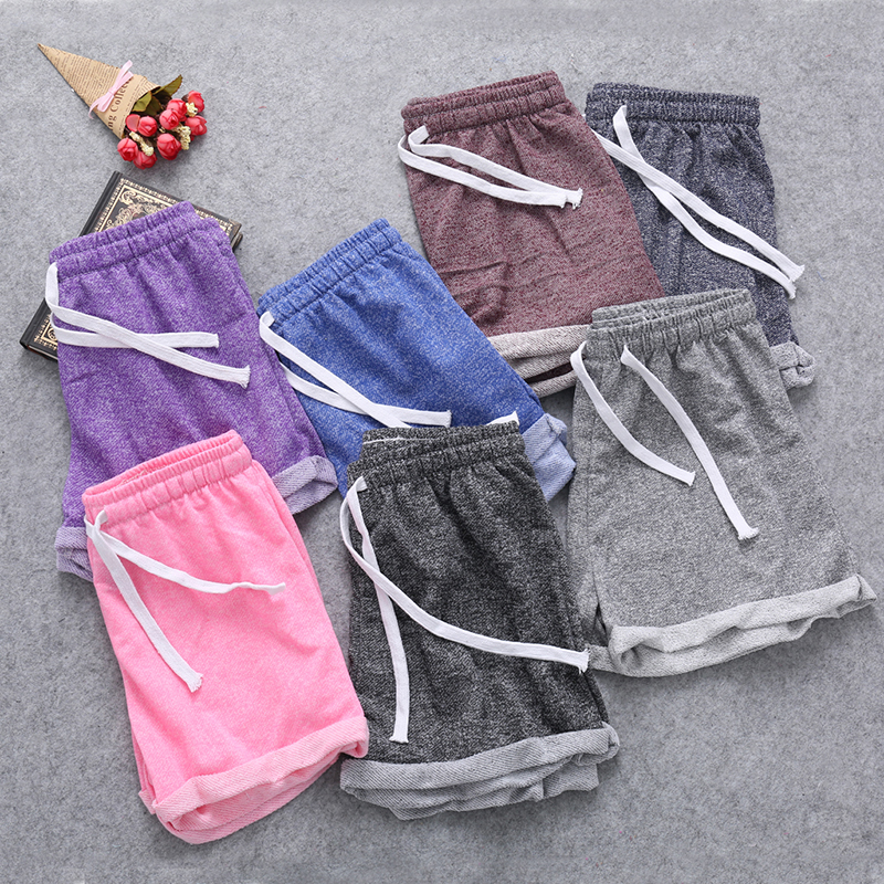2017 Summer Street Fashion   Shorts   Women Casual Loose Cotton Contrast Binding Side Split Elastic Waist Comfortable   Short   Femme