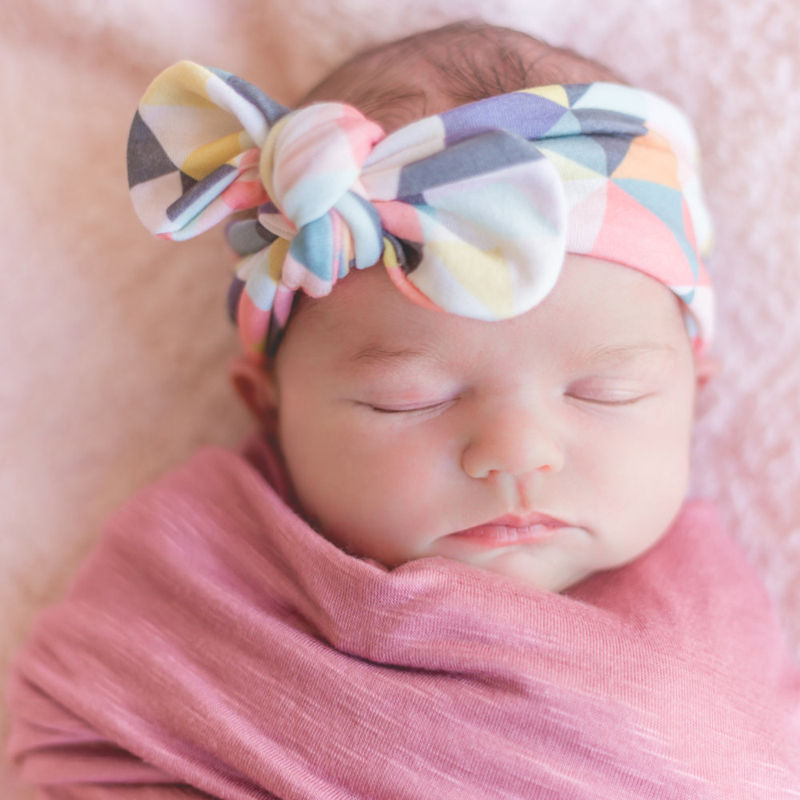 DIY Headband BabyGirls Turban Headwrap Newborn Bow Knot Floral Rabbit Ear Feather Arrow Print Hair Band Accessories 53000459