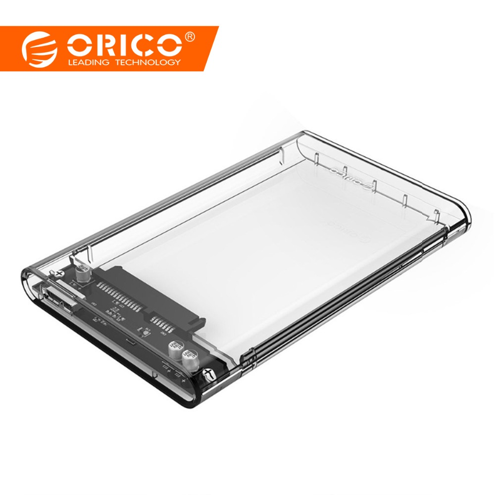ORICO 2139U3 Transparent 2,5 zoll HDD Fall Sata zu USB 3.0 Adapter High Speed Box Festplatte Gehäuse Für Samsung Seagate SSD