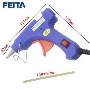 Image 2 - FEITA pistola de pegamento de fusión en caliente enchufe europeo, 20W, calentador profesional de alta temperatura, herramientas de calor para reparación, pinza con 1 unidad, barra de pegamento