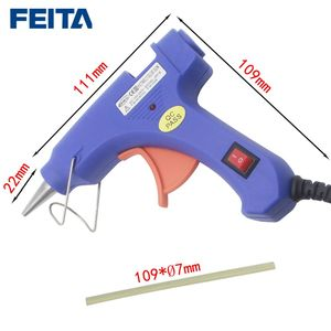Image 2 - Feita 20 w eu 플러그 핫멜트 접착제 총 전문 고온 히터 수리 열 도구 pistolet 1 pc 접착제 스틱과 colle