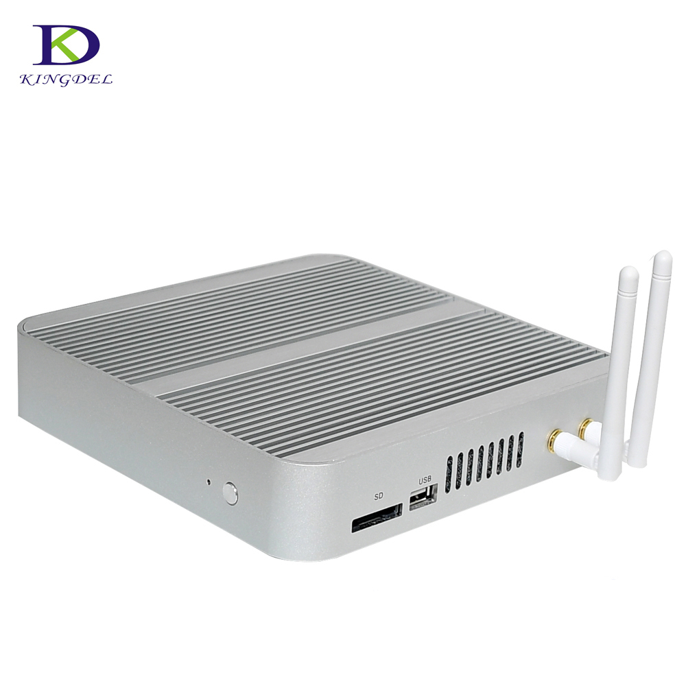6th Gen Fanless Mini Computer Intel HD Graphics 520 Nuc CPU Core I5 6200U I3 6100U Nettop HTPC HDMI VGA SD Wifi Desktop Mini Pc