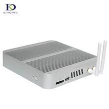 Ген Безвентиляторный Мини-Компьютер Intel HD Graphics 520 Кну Ядра ПРОЦЕССОРА i5 i3 6200U 6100U Неттоп HTPC HDMI VGA SD wi-fi настольных мини пк