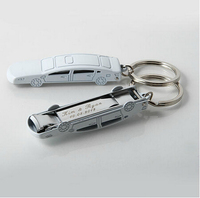 Personalized Creative Metal Car Keyring Nail Cutters Keychain Key Chain Ring Fob Gift Wedding Party Favor