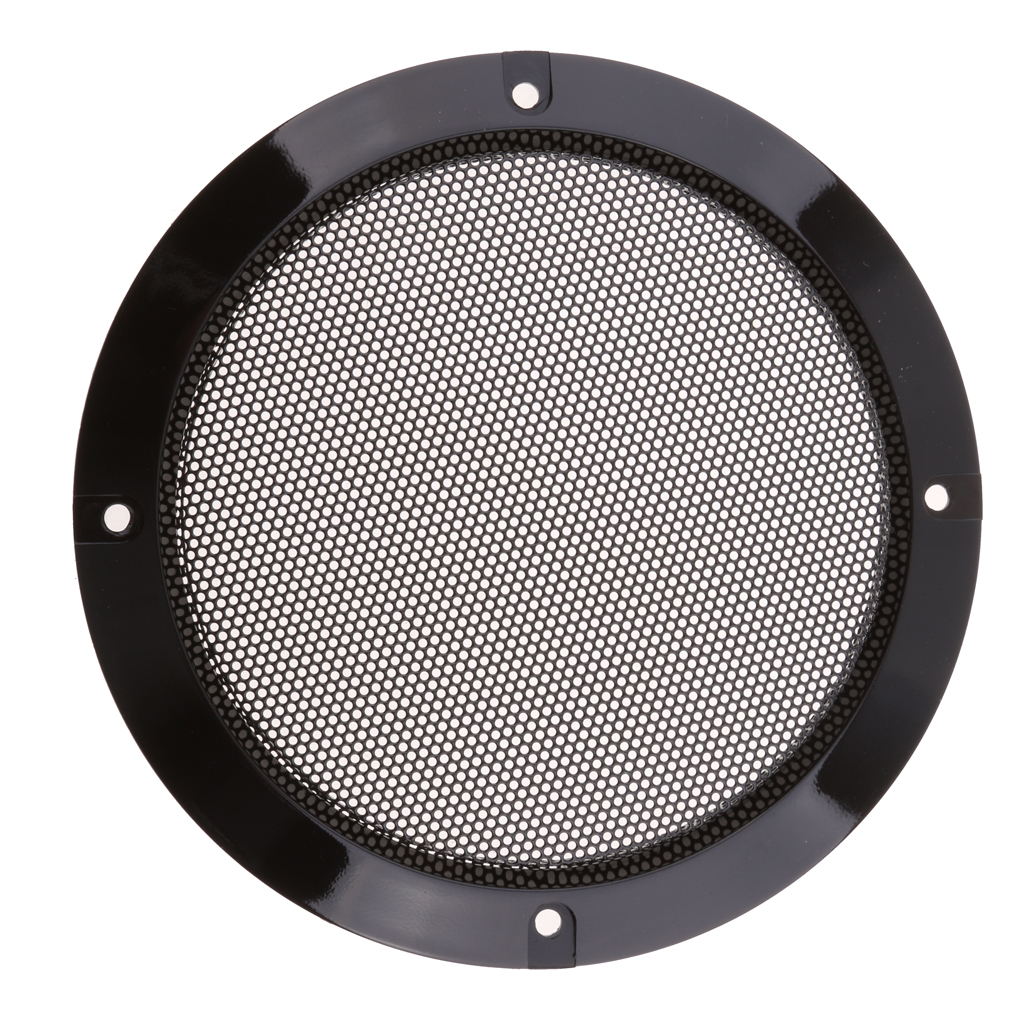 "2pcs 6/"" inch Speaker Cover Audio Decorative Circle Metal Mesh Grille Protection"