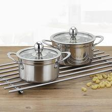 Stainless Steel Thickened Milk Pot Soup Pan Kitchen Boiler Soup Stock Pots Cookware 14cm/16cm Kitchen Tool