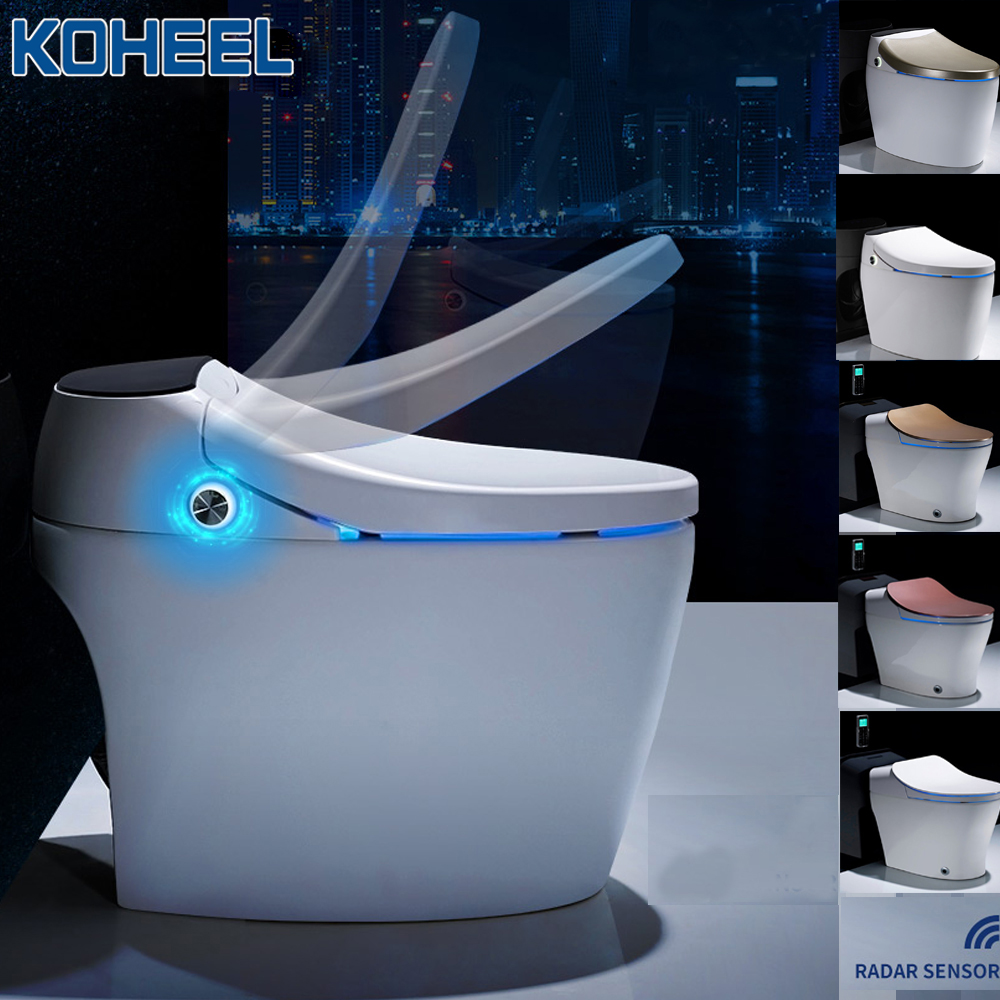 KOHEEL Luxury Smart One-Piece Toilet S-trap Intelligent WC Elongated Remote Controlled Smart Bidet ToiletKOHEEL Luxury Smart One-Piece Toilet S-trap Intelligent WC Elongated Remote Controlled Smart Bidet Toilet
