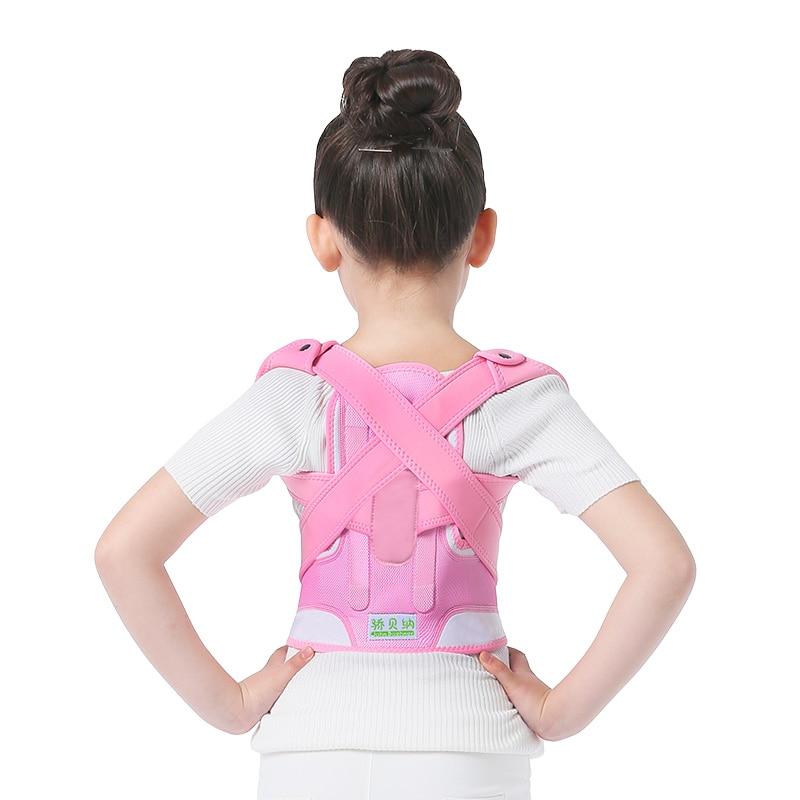 Image 2 - Children Kid Health Adjustable Magnetic Posture Corrector Back pain shoulder Support orthopedic corset Spine Support brace belt-in Braces & Supports from Beauty & Health
