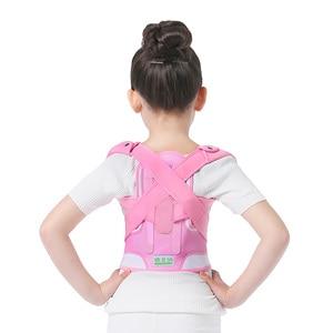 Image 2 - Children Kid Health Adjustable Magnetic Posture Corrector Back pain shoulder Support orthopedic corset Spine Support brace belt