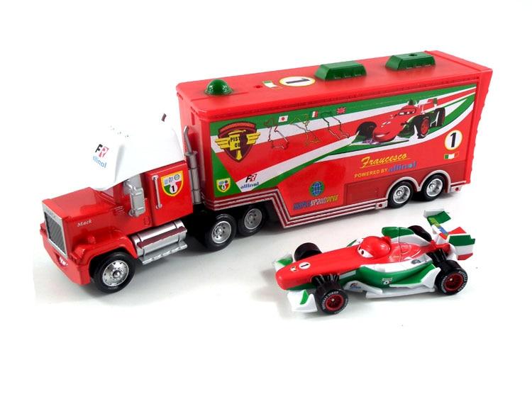 Pixar Cars No.1 Mack Truck u0026 Francesco Bernoulli Metal Toy Car For Children 1:55 Loose Brand New ...