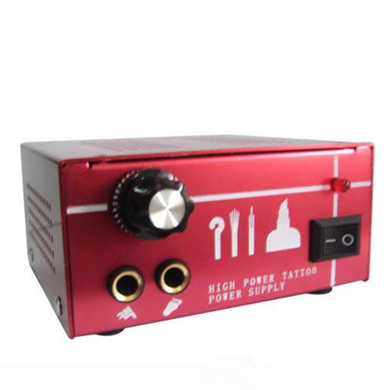 Professional Dual Output Power Supply Red Power Supply Tattoo Power Supply PS-37 for tattoo machine tattoo gun free shipping