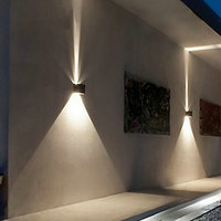 LED 12w Outdoor Wall Light Up Down IP65 Waterproof White Black Modern Sconce Wall Fixtures Lamp