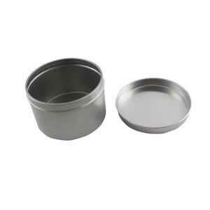 Image 5 - Hurtownie 180g srebrny aluminium świeca Jar Mental pojemniki na świecę Reuse DIY wysokiej jakości pusty słoik z pokrywką 27 ps/partia pusty
