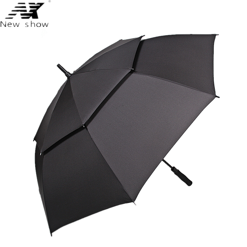 NX Large golf umbrella Windproof double layer 135cm glass fiber man business Advertising sun rain long umbrella men wholesaleNX Large golf umbrella Windproof double layer 135cm glass fiber man business Advertising sun rain long umbrella men wholesale