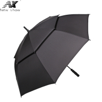 NX Large Golf Windproof Double Layer Long Handle Umbrella 135cm Glass Fiber Man Business Advertising Sun