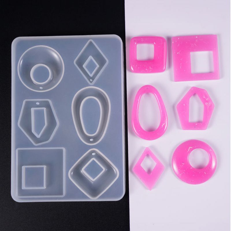 Exquisite, Cute, Stylish And Interesting Silicone Acrylic Earring Necklace Pendant Mold Resin Casting Mold Jewelry Making