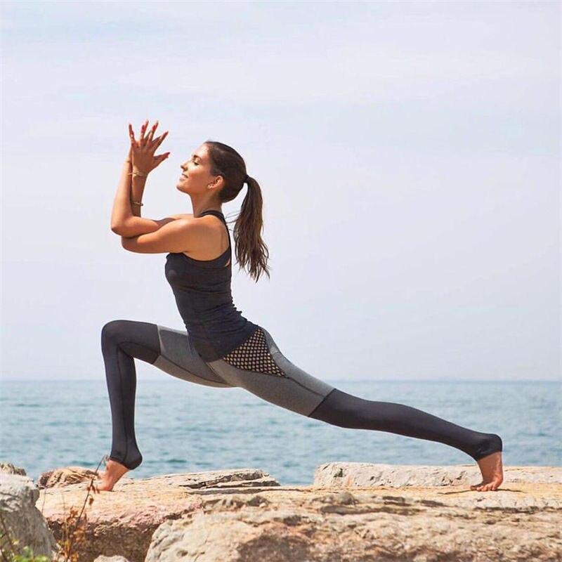 8f8cf2bfb874e Hot sale mesh splice fitness leggings trousers for women athleisure 2017  jeggings grey black slim legging pants female elastic