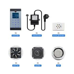 Image 5 - 1 takım (denetleyici + trafo + havalandırma fanı + hoparlör + ışık + ozon) dokunmatik ekran büyük LCD ekran serbest telefon duş kabini