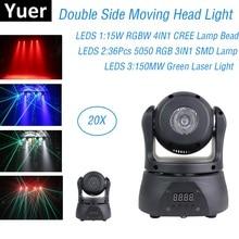 Double Side LED Mini Moving Head Light Strobe Wash Laser 3IN1 Stage Light Dj Lighting Effect Professional Dj Laser Light Party цена 2017