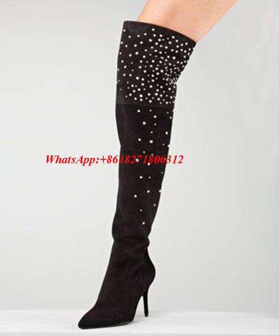Popular Studded Thigh High Boots-Buy Cheap Studded Thigh High ...
