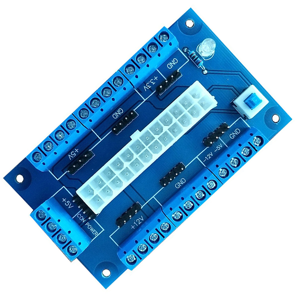 Image 3 - PC 24/20Pin ATX DC Power Supply Breakout Board Module Adapter DIY Accessories 2019hot-in Computer Cables & Connectors from Computer & Office