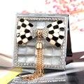 2 стороны, мини красота макияж компактное карманное зеркало, свадьба невесты друг подарок настоящее, кошачий глаз камень бантом кисточкой