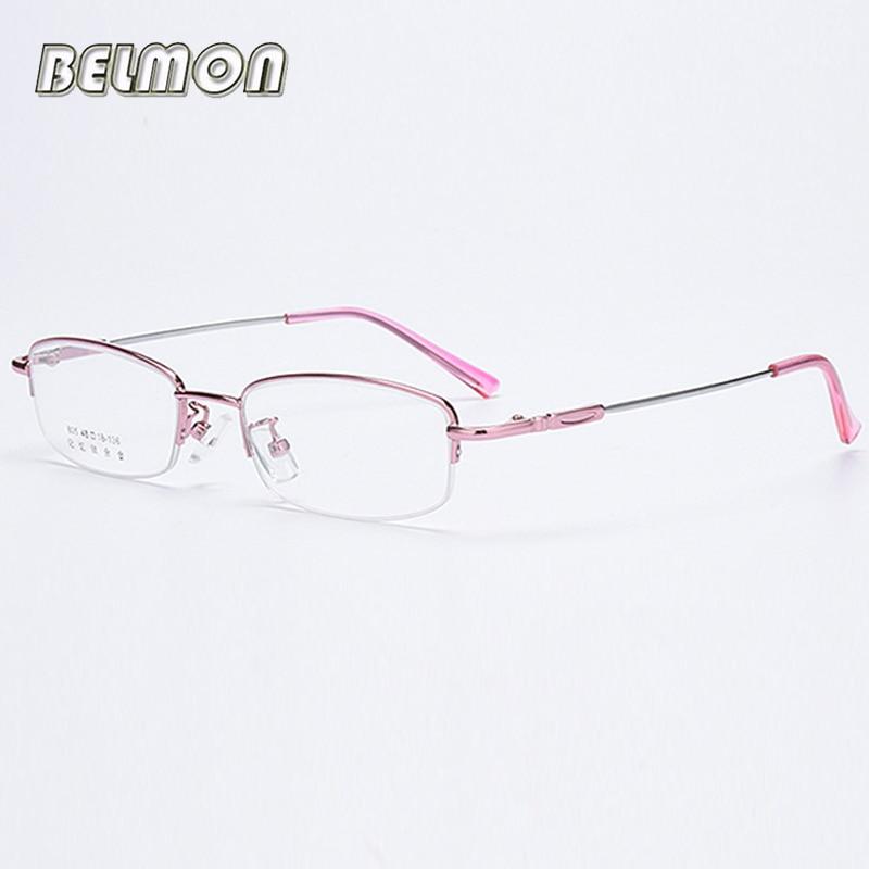 Belmon Memory Spectacle Frame Women Eyeglasses Computer Prescription Optical Clear Lens Glasses Frame For Female Eyewear RS774